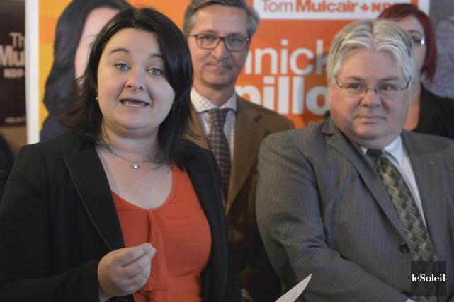 Les candidats néo-démocrates Annick Papillon, G. Daniel Caron... (Le Soleil, Yan Doublet)
