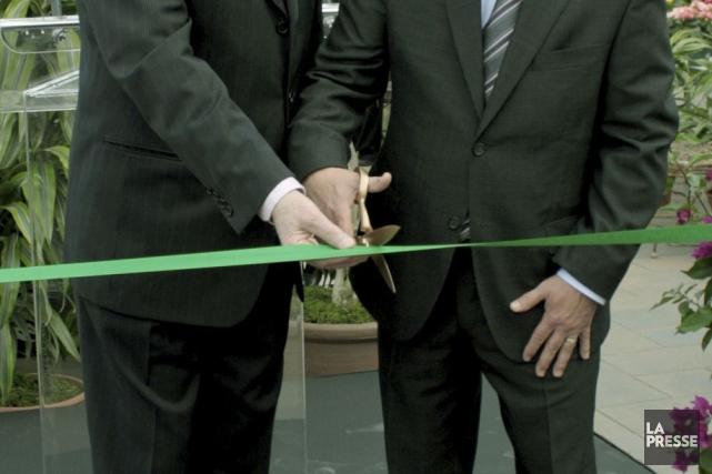 La construction du nouveau Pavillon Jacques et Michel Auger et de la nouvelle... (Archives La Presse)