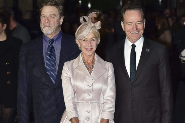 John Goodman, Helen Mirren et Bryan Cranston à... (PHOTO AFP)