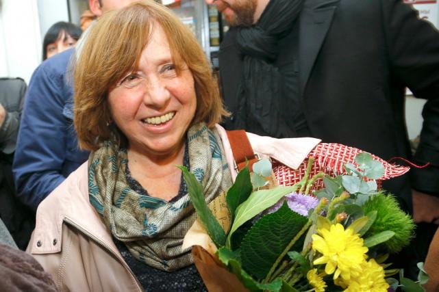 Svetlana Alexievitcha utilisé l'art journalistique pour faire la... (PHOTO ARCHIVES AP)