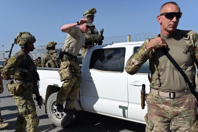 Des militaires américains lors de batailles contre les... (Photo Wakil Kohsar, archives AFP)