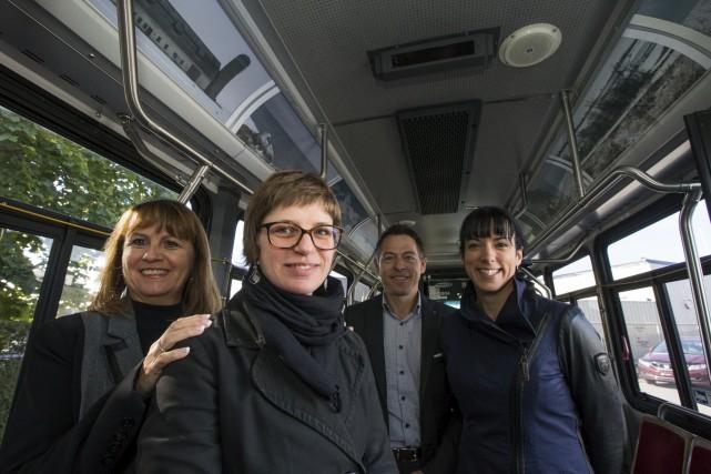 Dans l'ordre: Ginette Bellemare, Isabelle Ayotte, Marc Levasseur... (Olivier Croteau)