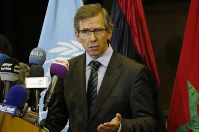 Bernardino Leon, l'émissaire des Nations unies pour la... (Abdeljalil Bounhar)