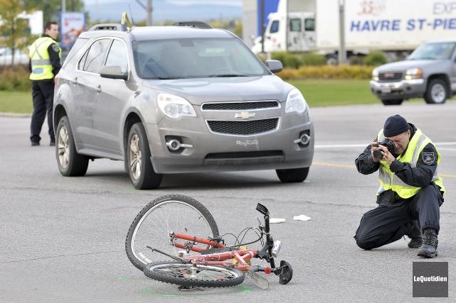 L'accident s'est produit en début de matinée, hier,... (Photo Le Quotidien, Rocket Lavoie)