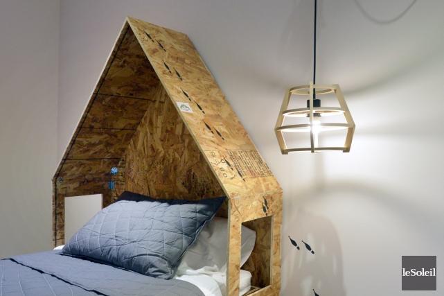 La tête de lit de cette chambre de... (Le Soleil, Jean-Marie Villeneuve)