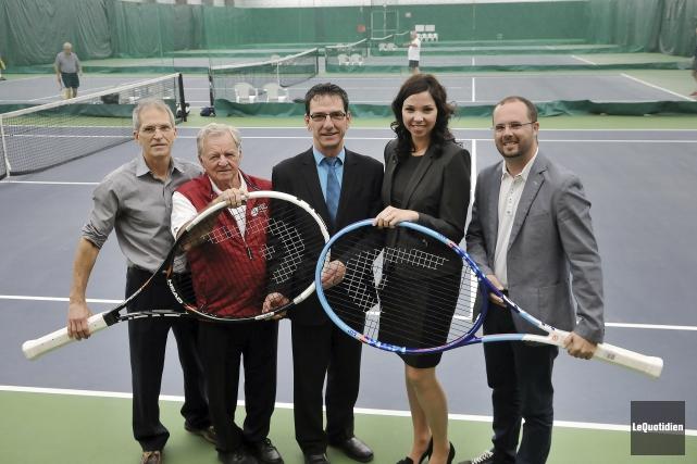 Le Club de tennis intérieur Saguenay (CTIS) sera... (Photo Le Quotidien, Rocket Lavoie)