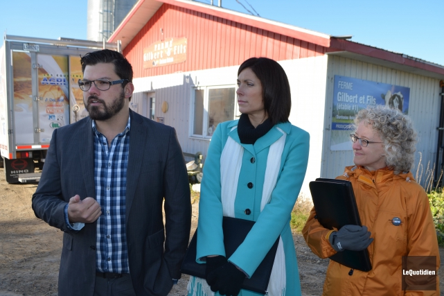 Les candidats du NPD Dany Morin (Chicoutimi-Le Fjord),... (Photo Le Quotidien, Laura Lévesque)