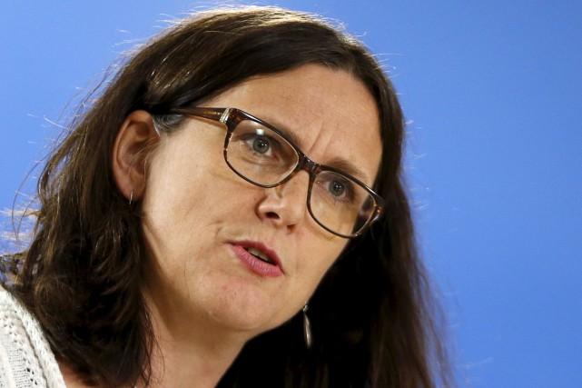 La commissaire européenne chargée du Commerce, Cecilia Malmström.... (Photo François Lenoir, Reuters)