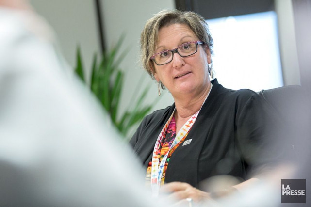 La présidente du Syndicat de la fonction publique... (Photothèque La Presse)