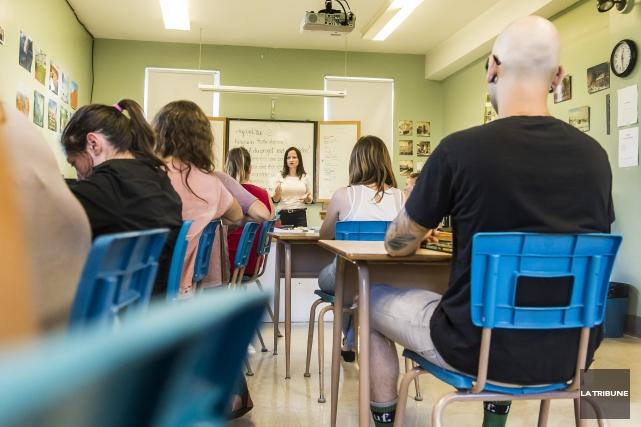 Les futurs enseignants de l'Université de Sherbrooke réclament d'être... (Archives La Tribune, Jocelyn Riendeau)