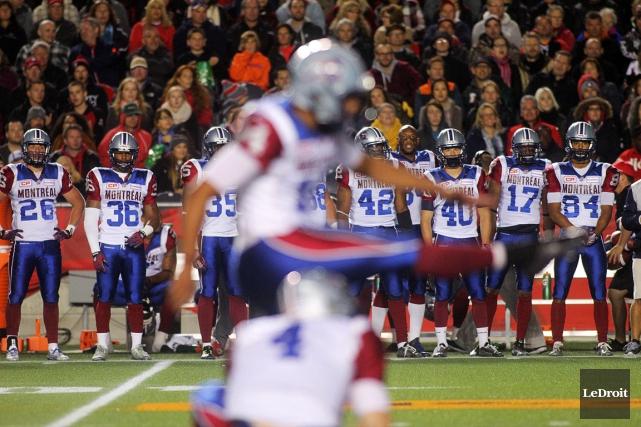Avec leur fiche de 5-8, les Alouettes occupent... (Photo Étienne Ranger, Le Droit)