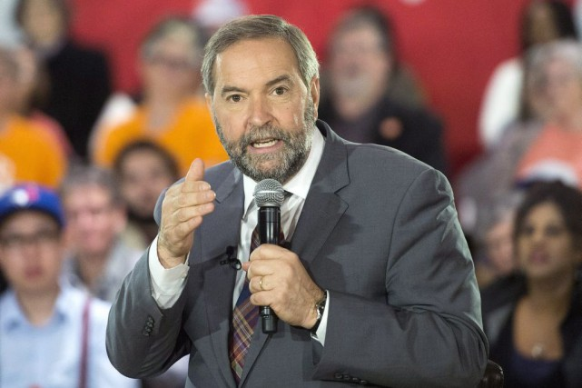 Le chef du NPD, Thomas Mulcair....