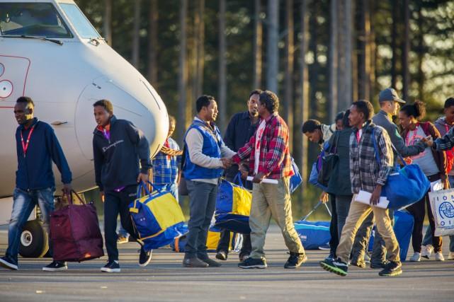 La Suède a accueilli vendredi après-midi les premiers... (PHOTO ROBERT NYHOLM, TT/AP)