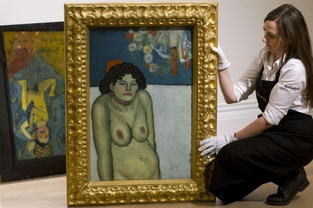 La gommeuse, une toile du maître espagnol Pablo Picasso datant du... (PHOTO AFP)