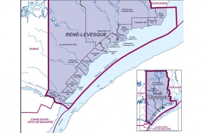 La circonscription René-Lévesque... (Source: DGE)