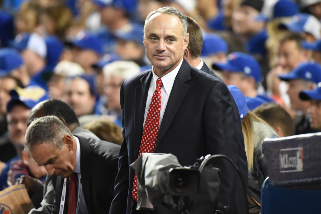 Le commissaire du Baseball majeur, Rob Manfred.... (Photo Dan Hamilton, USA Today)