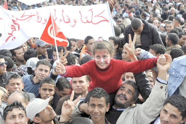 Alors que le printemps arabe a viré au... (AFP, Fethi Belaid)