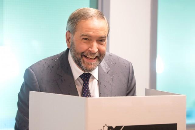 Le chef néo-démocrate Thomas Mulcair a voté par... (La Presse Canadienne, Ryan Remiorz)