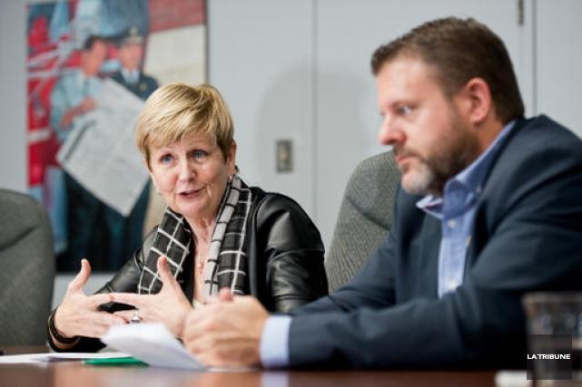 La directrice générale de la STS, Huguette Dallaire,... (IMACOM, Jessica Garneau)
