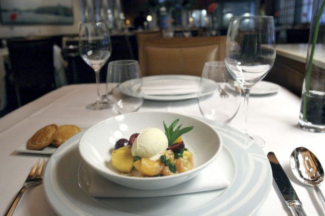 Un plat du restaurant Le Bernardin de New... (Bebeto Matthews, Associated Press)