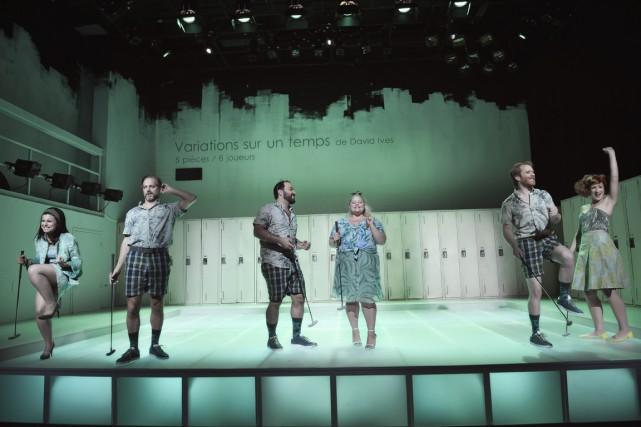 Émilie Bibeau, Daniel Parent, Mani Soleymanlou, Geneviève Schmidt,... (Photo Yanick Macdonald, fournie par la production)