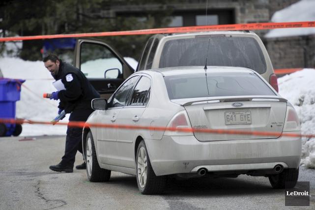La sergente-détective Marie-Claude Fortin a tiré une balle... (Martin Roy, Archives LeDroit)