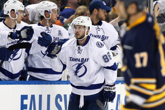 Nikita Kucherov a marqué l'un des quatre buts... (PHOTO KEVIN HOFFMAN, USA TODAY)