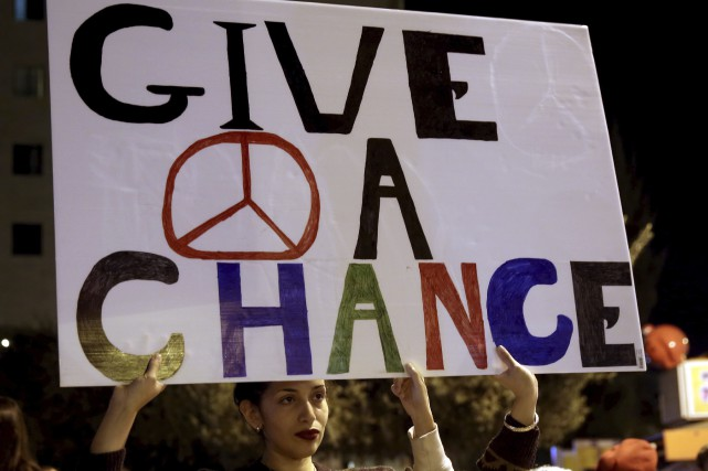 De retour du Proche-Orient, les auteurs se disent... (AFP, Gali Tibbon)