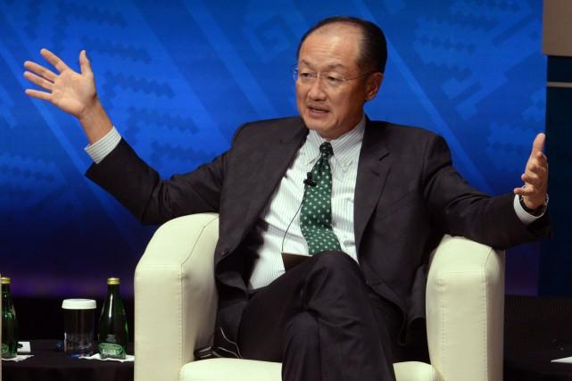 Le président de la Banque mondiale, Jim Yong... (PHOTO CRIS BOURONCLE, AFP)