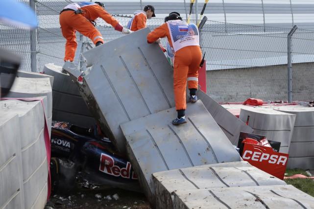 La dernière séance d'essais libres du Grand Prix... (AFP, Andrej Isakovic)
