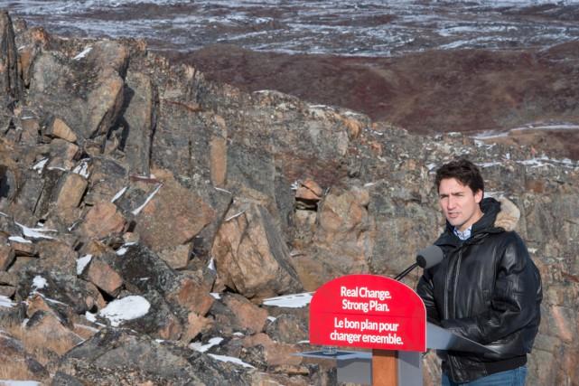 Le chef libéral, Justin Trudeau, qui était au... (La Presse Canadienne, Paul Chiasson)