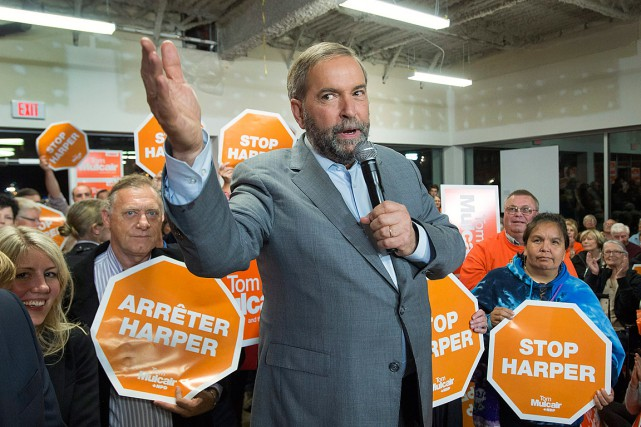 Thomas Mulcair, le chef du Nouveau Parti démocratique, photographié... (Photo Ryan Remiorz, PC)