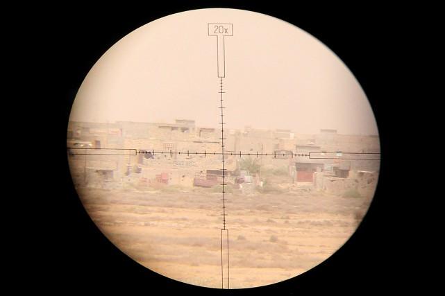 Cette photo a été prise dans le viseur... (PHOTO HAIDAR MOHAMMED ALI, ARCHIVES AFP)