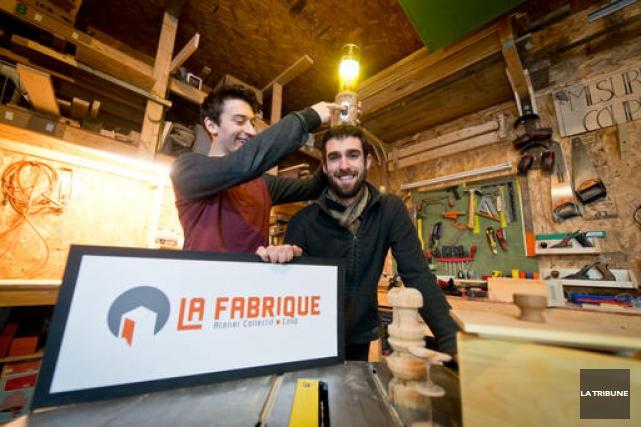 David Allard-Martin et Julien Lamarche ont mis sur... (Archives, La Tribune)
