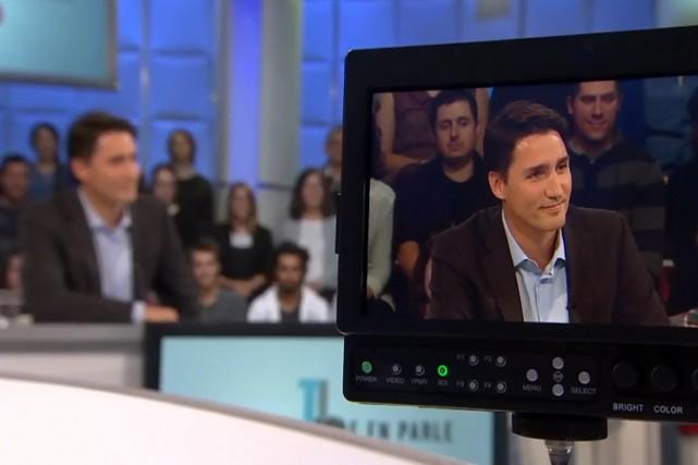 Justin Trudeau, lors de son passage à Tout... (PHOTO TIRÉE DU SITE DE RADIO-CANADA)