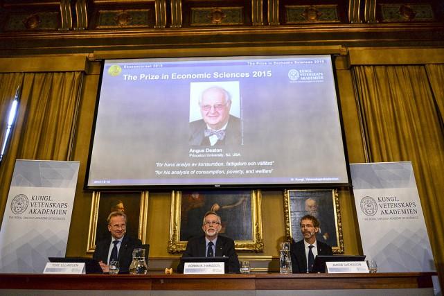 L'Américano-Britannique Angus Deaton, 69 ans,a remporté le prix... (Photo Maja Suslin, Reuters)