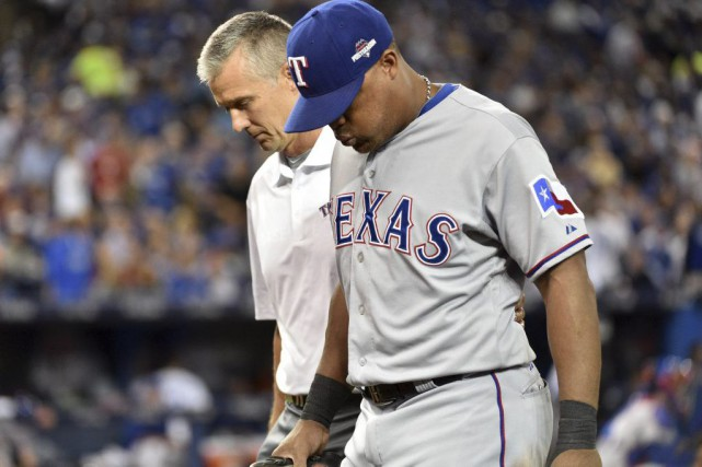 Adrian Beltre souffre d'une élongation au bas du dos.... (Photo Nick Turchiaro, USA TODAY Sports)