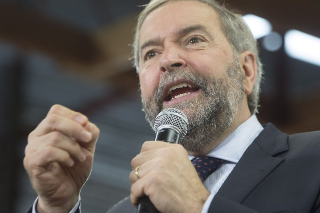Thomas Mulcair était à Maple Ridge, en Colombie-Britannique, lundi.... (La Presse Canadienne, Ryan Remiorz)