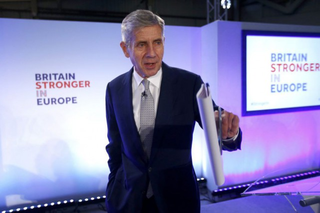 Stuart Rose, leader de la campagne pro-UE.... (Photo Reuters)