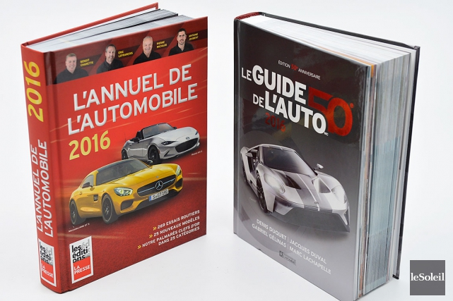 L'annuel de l'automobile 2016 et Le guide de... (Photo Le Soleil, Yan Doublet)