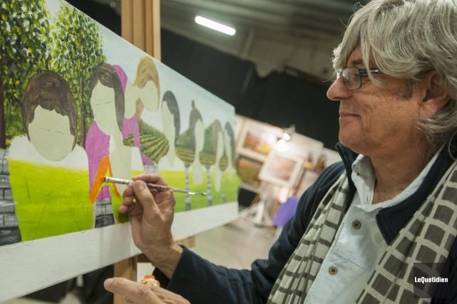 Des dizaines d'artistes ont démontré leur savoir-faire au... ((Photo Le Quotidien, Michel Tremblay))