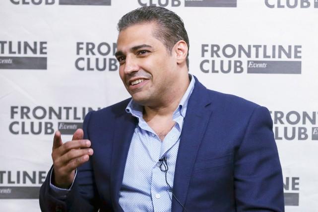 Mohamed Fahmy, le 7 octobre, alors qu'il s'adressait... (AP, Tim Ireland)