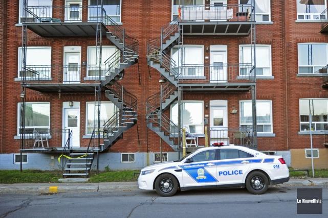 La police de Trois-Rivières est intervenue samedi dans... (Photo: Andréanne Lemire, Le Nouvelliste)