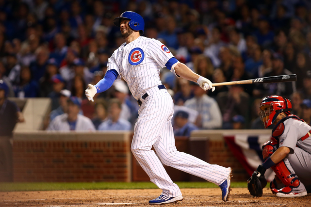 Kris Bryant a frappé un circuit de deux... (Photo Jerry Lai, USA Today)