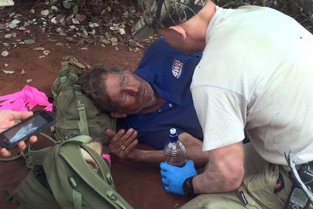 Reg Foggerdy, 62 ans,a survécu pendant six jours... (Photo AFP)