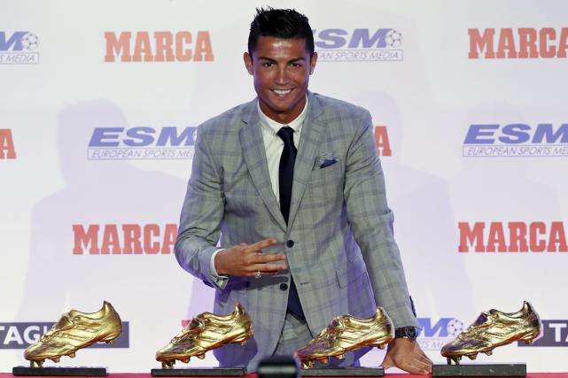Cristiano Ronaldo a marqué 48 buts en 35... (Photo Andrea Comas, Reuters)