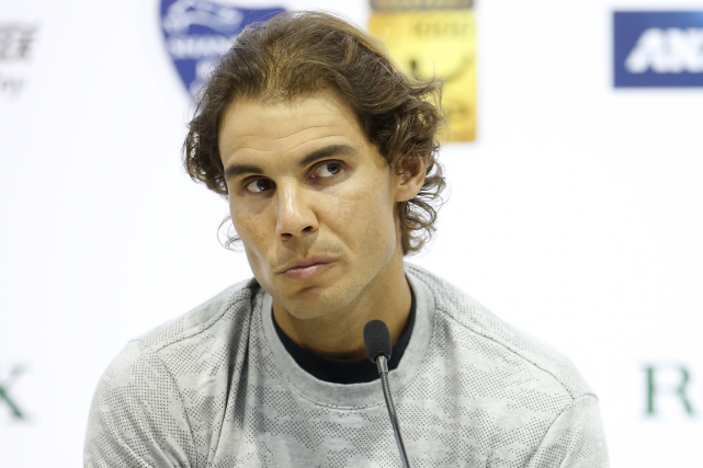 Rafael Nadal a du mal depuis le début de... (Photo Aly Song, Reuters)