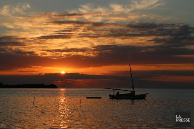 L'île est cernée par des pontons d'où partent... (Photo Sylvain Sarrazin, La Presse)
