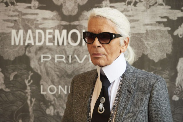 Karl Lagerfeld a réaffirmé qu'il n'envisageait pas de... (PHOTO NIKLAS HALLE'N, AFP)