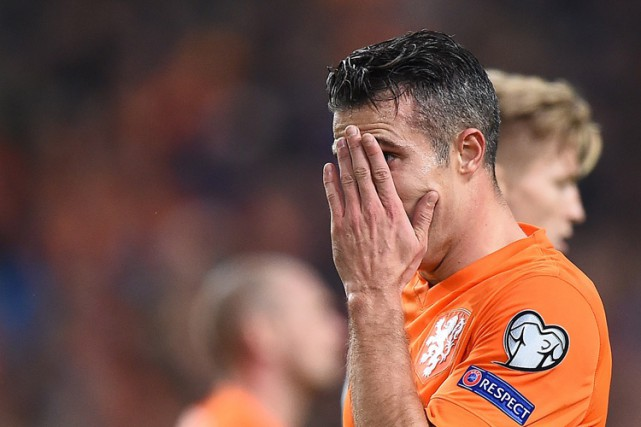 Robin van Persie a marqué un but contre... (PHOTO AP)